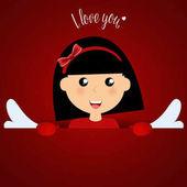 Valentines day background design Vector illustration