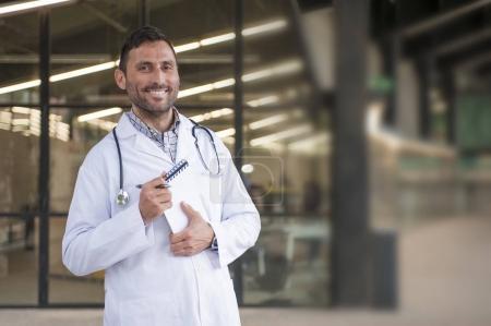 handsome doctor in a medical center