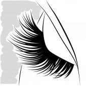 eyelash esign    art  abstract  white  black  beautiful