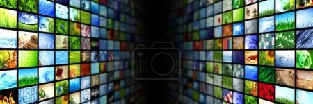 Photo pour Sur les parois multimédias vidéo et image géantes - image libre de droit