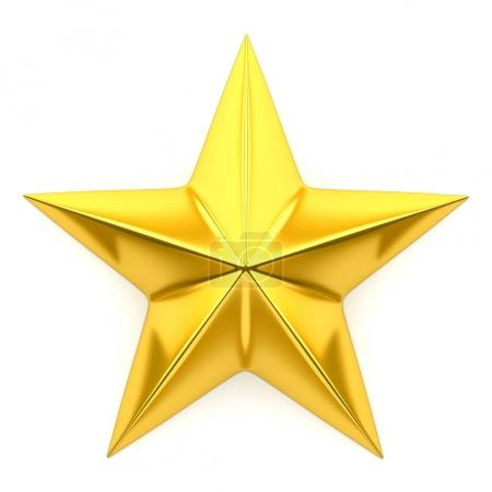 Photo for Shiny golden star - 3d rendering - Royalty Free Image