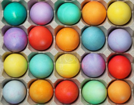 Photo for Batch of colorful Easter eggs - Royalty Free Image