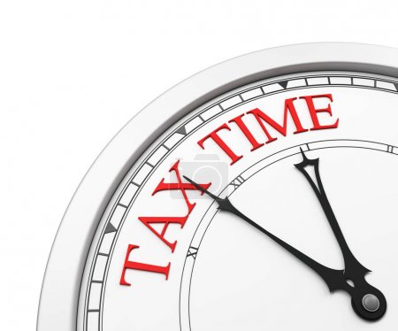 Tax time deadline on a clock