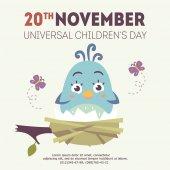 vector universal children's day illustration