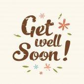 vector get well soon illustration