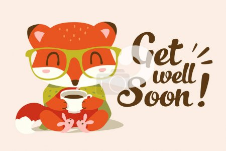 vector get well soon illustration
