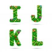 Fir tree font letters