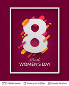 Greeting card for International Womens Day