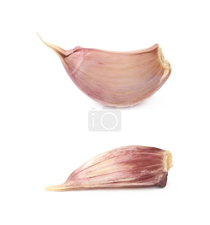 Single garlic clove isolated