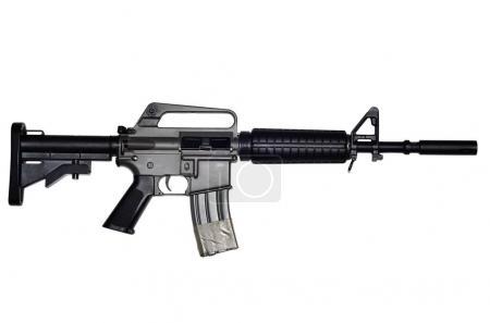 Photo pour Fusil d'assaut sur fond blanc - image libre de droit