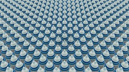 Photo pour Abstrait isométrique avec cônes, rendu 3d, tendu texture pixels - image libre de droit