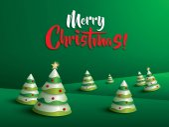 Merry Christmas Landscape Christmas trees