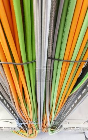 Photo pour Système de câble d'alimentation, gros plan - image libre de droit