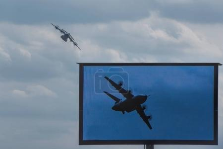 military transport aircraft in the sky