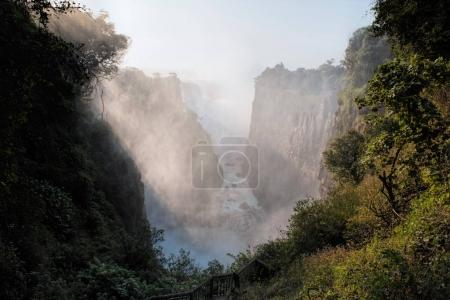 the Victoria falls in Zimbabwe