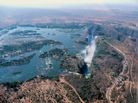 beautiful landscape of Victoria falls