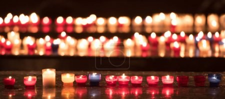 candles and lights in church