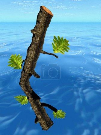 Photo pour L'arbre et le tronc - image libre de droit