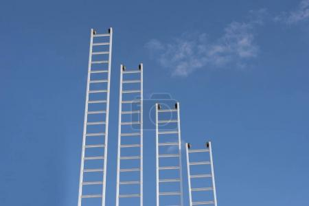 ladders, sky and clouds