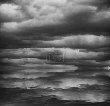 beautiful nature background with grey cloudy sky