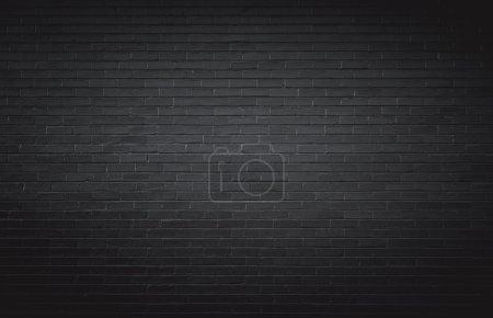 Photo pour Fond mural en brique noire - image libre de droit