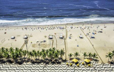 Copacabana Beach from high angle, Rio de Janeiro, Brazil