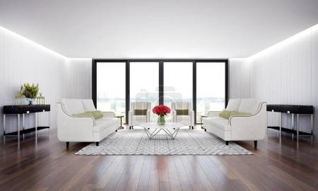 Foto de Diseño de interiores 3D representación de sala de estar - Imagen libre de derechos