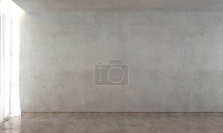 Photo pour Conception du salon vide et fond mural en béton - image libre de droit
