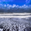 In shore to the sea in a day of moved sea and exte...