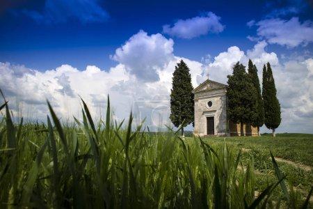 Photo pour Chapelle de la Vitaleta en Val Orcia province de Sienne Italie - image libre de droit