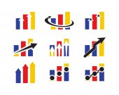business chart logo collection