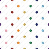 SEAMLESS RAINBOW COLORFUL DOT GLITTER ON WHITE STRIPE BACKGROUND