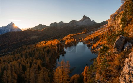 scenery in the Dolomites mountains