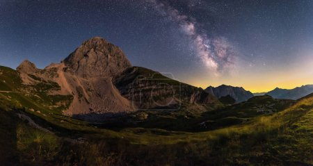 Milky Way over the Mangart saddle