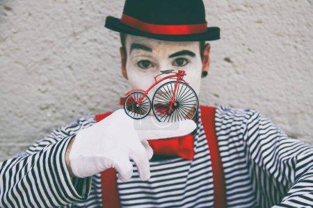 pantomime man with facial paint