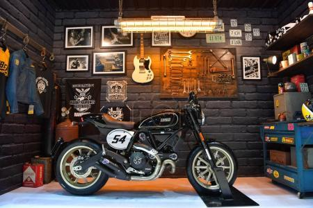 Ducati Scrambler motorcycle in Bangkok