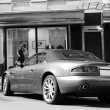 Постер, плакат: Kiev Ukraine September 8 2011 Aston Martin DB7 Vantage Volante Black and white photo Editorial photo