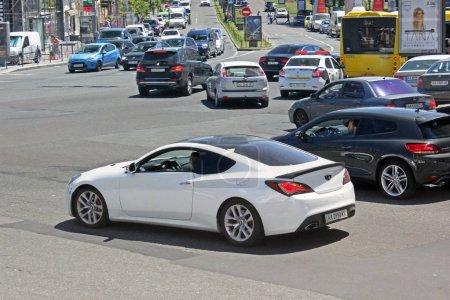 White Hyundai Genesis Coupe Kiev