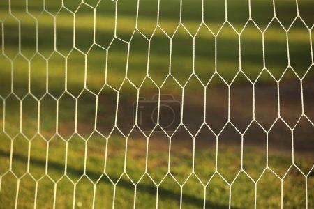 Soccer net texture