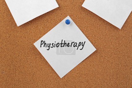 word PHYSIOTHERAPY on sticky note