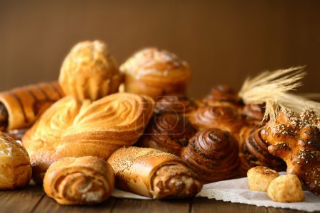 Photo for Fresh bakery products, closeup - Royalty Free Image