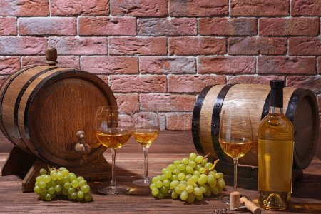 Composition of white wine