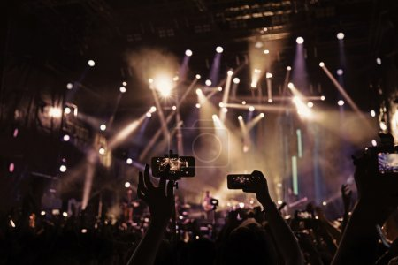 Photo for Crowd at a open air concert - Royalty Free Image