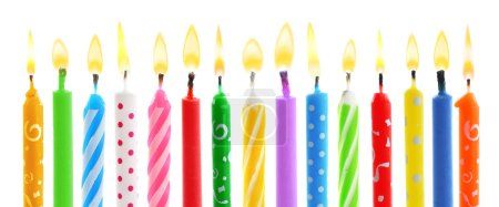 Birthday candles, isolated on white...
