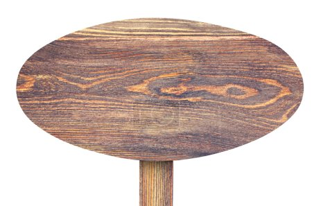 Wooden signboard on white background