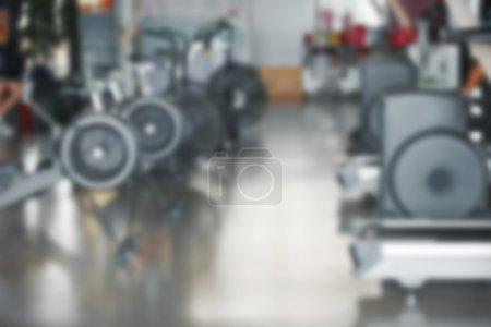 Photo pour Fond de gym fitness floue - image libre de droit