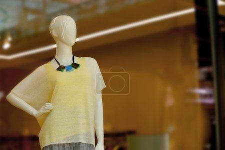 Mannequin in shop windows