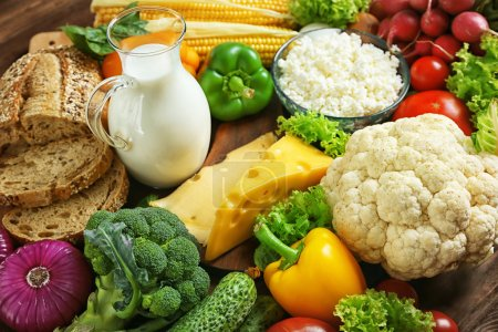 Vegetables and dairy products