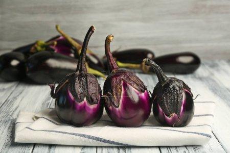 Composition with fresh eggplants