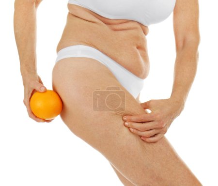 Senior woman body